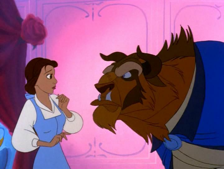 картинки красавица и чудовище мультфильм