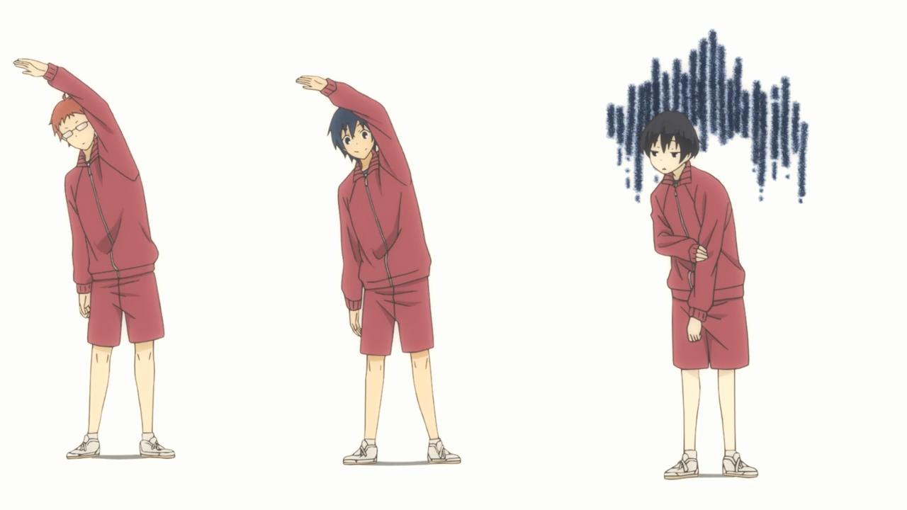 Tanaka-kun wa itsumo kedaruge / всегда вялый танака / сонный.